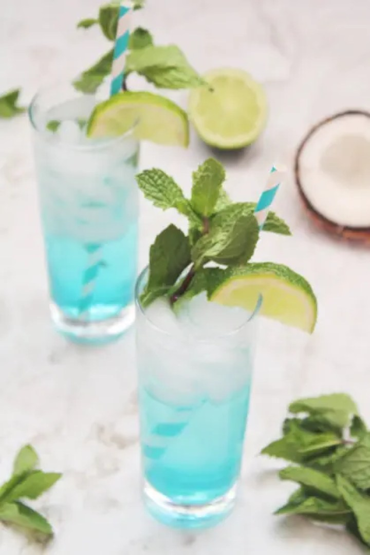 Cocktails with Blue Curacao