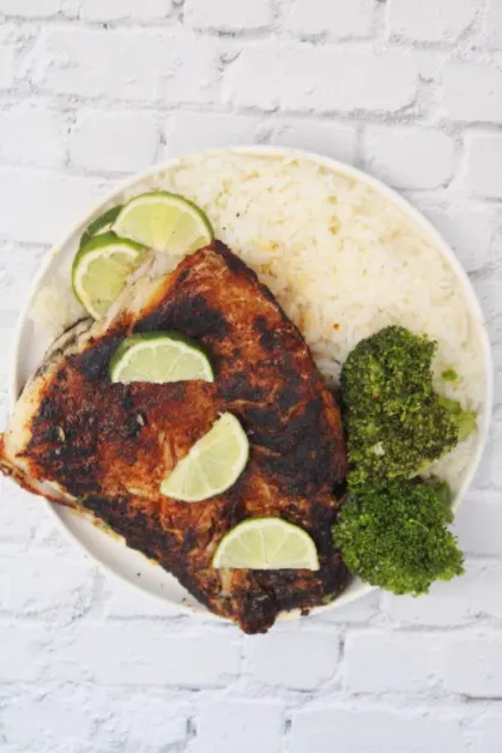 Serving delicious grouper fillets with blackened seasoning