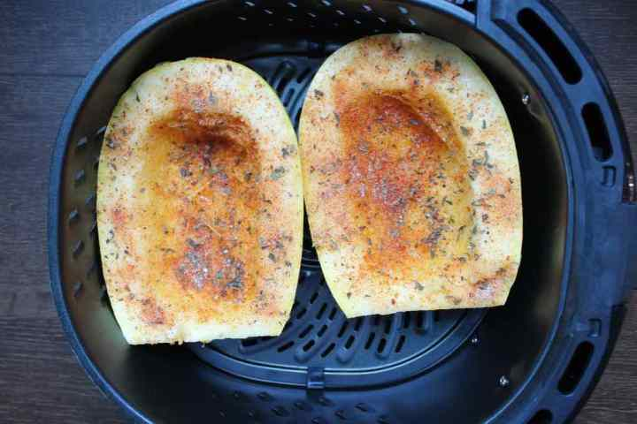 This is how you season it and cook it in the air fryer.
