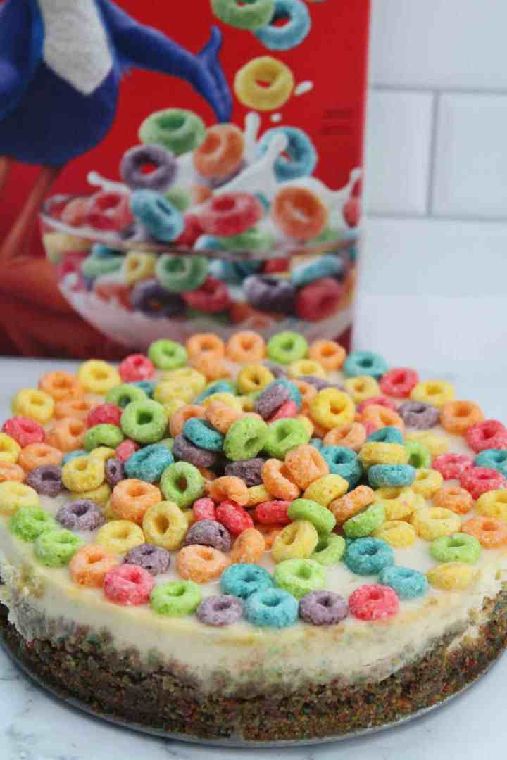 instant pot Froot Loops cheesecake