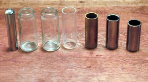 The second and third items are Coricidin bottles which had been used as slides