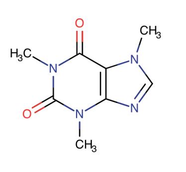 caffeine molecular structure molecule rings