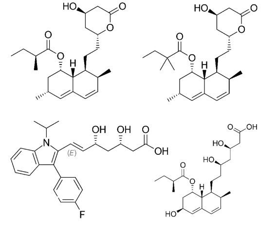 chemical structure of lovastatin simvastatin pravastatin fluvastatin