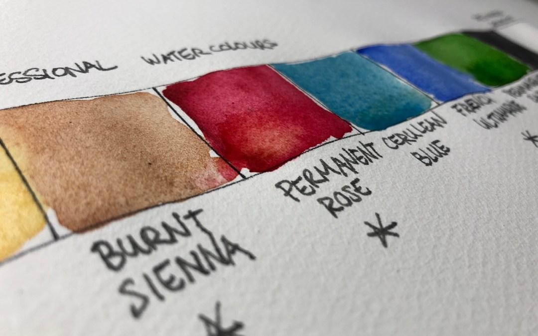 Colours: A limited palette