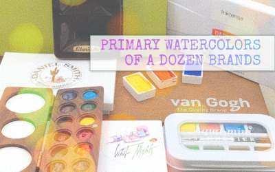 PRIMARY WATERCOLORS OF A DOZEN BRANDS