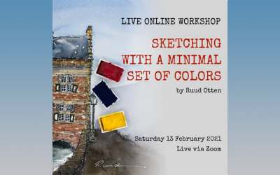 Sketching with a minimal set of watercolors (live Zoom workshop)