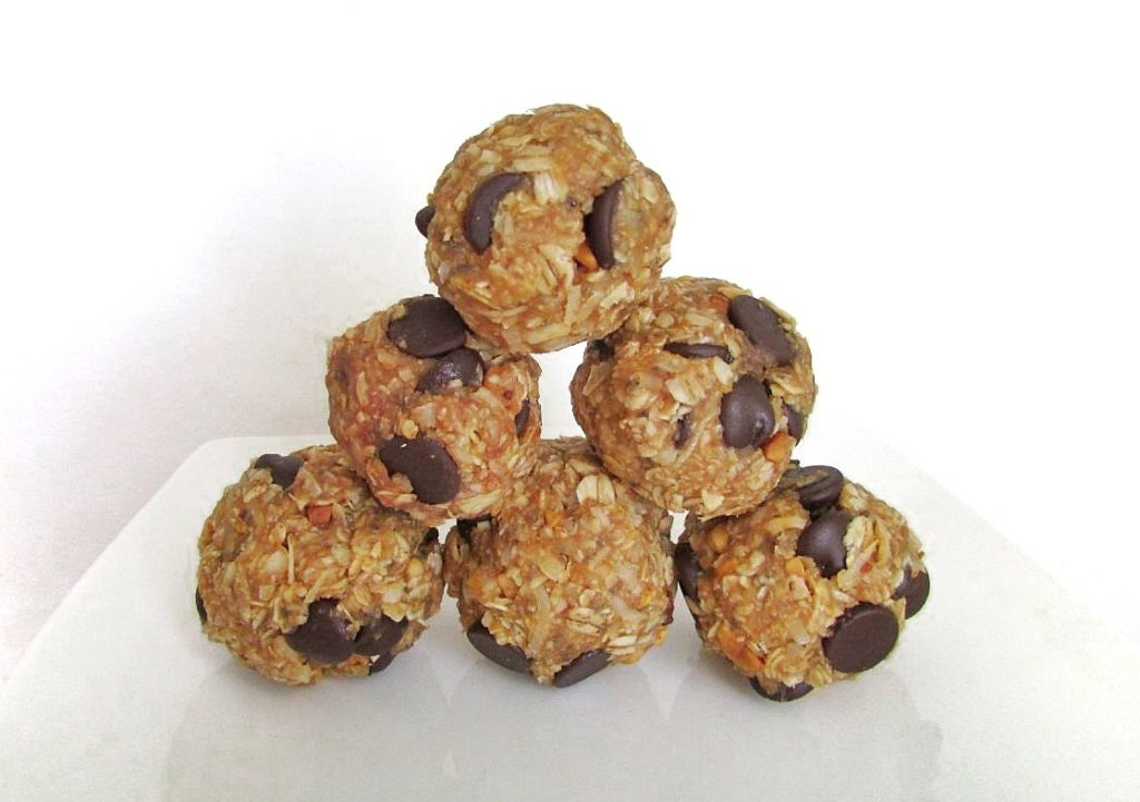 No Bake Protein Bites The Skinny Chick S Cookbook