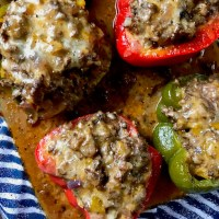 Philly Cheese Style Stuffed Peppers