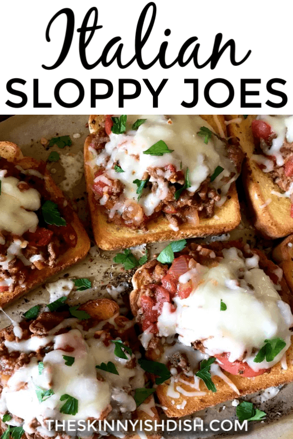Sloppy Joes are an American classic for many generations, but when an American classic takes an Italian spin things get good!  Using lean ground beef and Italian flavors this is one of our favorite dinners and it will soon be yours too! #italian #sloppyjoes #ww