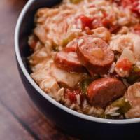 Cajun Chicken, Sausage, and Rice