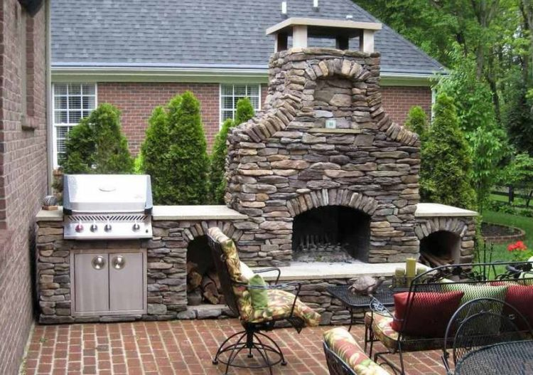 Get The Warmth of Charming Stacked Stone Fireplace Design in Your Living Room 10