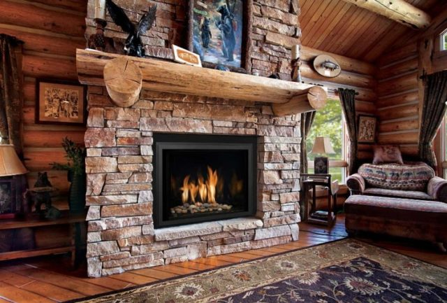 Get The Warmth of Charming Stacked Stone Fireplace Design in Your Living Room 8