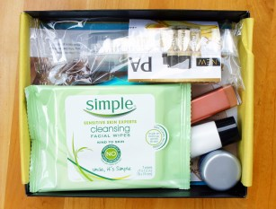 Target Beauty Box April 2016 Simple Cleansing Facial Wipes