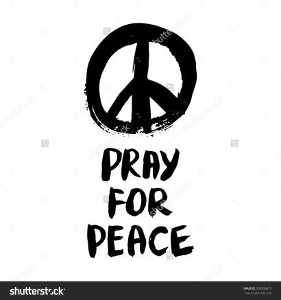 stock-vector-pray-for-peace-brush-typography-for-poster-or-t-shirt-vector-illustration-339958679
