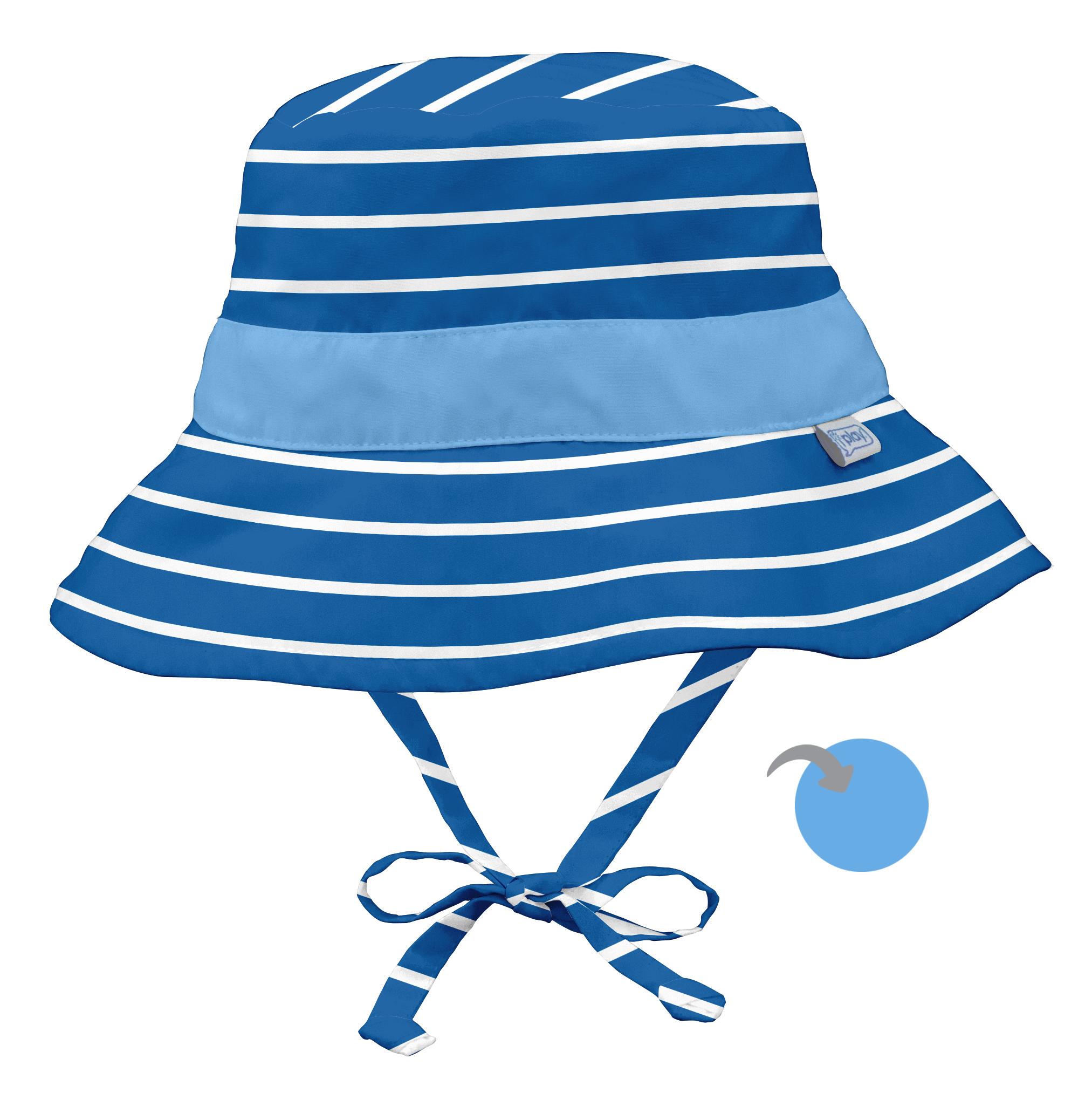 iplay. Reversible Bucket Sun Hat – Royal Blue Stripe 63eeb30d8305