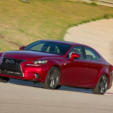 2014-Lexus-IS-F-Sport-front-three-quarter-on-track
