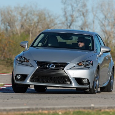 2014-Lexus-IS350-F-Sport-on-track-front