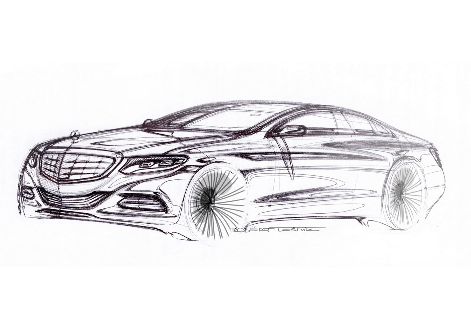 2014 Mercedes Benz S-Class Sketch - SMADE MEDIA (5)