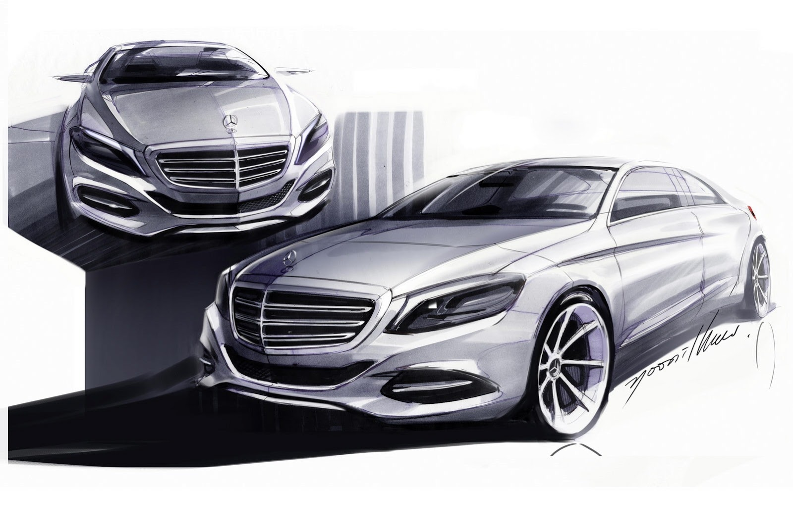 2014 Mercedes Benz S-Class Sketch - SMADE MEDIA (6)