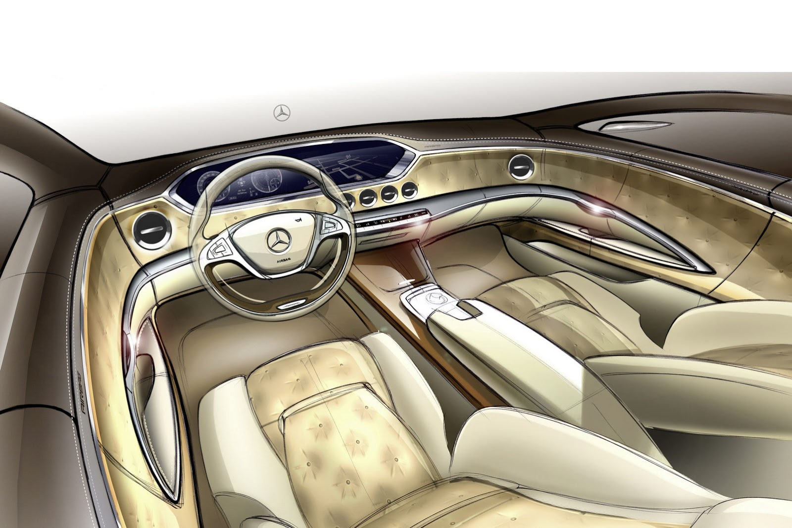 2014 Mercedes Benz S-Class Sketch - SMADE MEDIA (7)