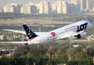 LOT 787 Takeoff from Ben Gurion
