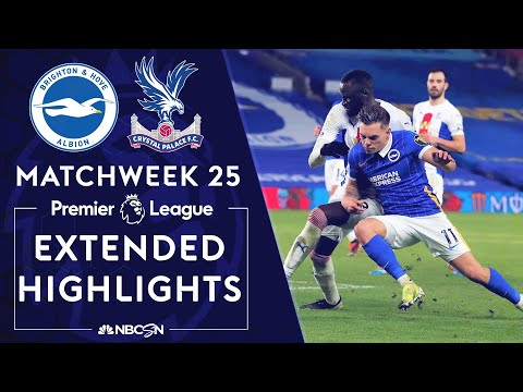 Brighton v. Crystal Palace | PREMIER LEAGUE HIGHLIGHTS | 2/22/2021 | NBC Sports