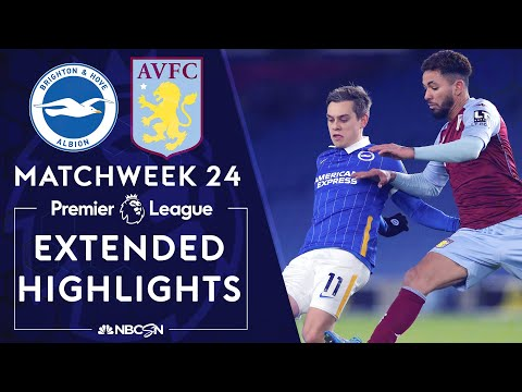 Brighton v. Aston Villa | PREMIER LEAGUE HIGHLIGHTS | 2/13/2021 | NBC Sports