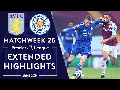 Aston Villa v. Leicester City | PREMIER LEAGUE HIGHLIGHTS | 2/21/2021 | NBC Sports