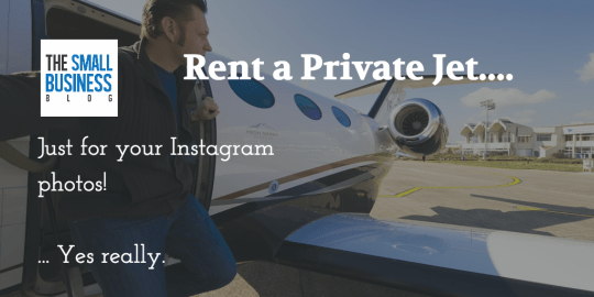 Rent private jet for instagram photos