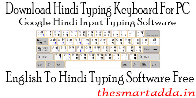 Hindi typing Chart English To Hindi Typing Keyboard For PC | Hindi Typing Software Download