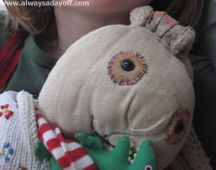 hand made stuffed bunny