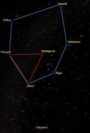 winter hexagon in the stars