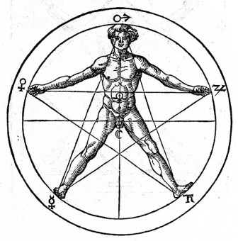 Pentagram and magical associations in Agrippa