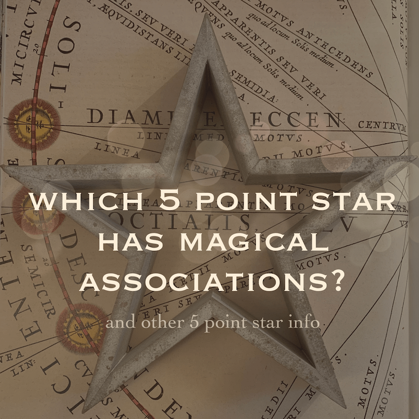 which 5 point star has magical associations?