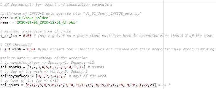 Data and parameter definition generation shift keys