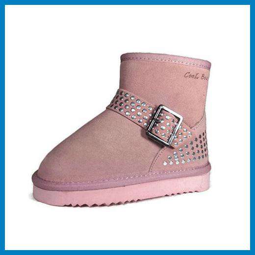 Cool Beans Girls Warm Sheep Fur Winter Boots