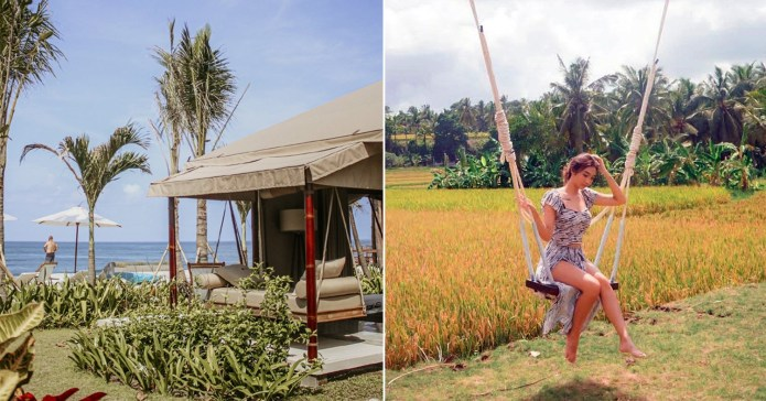 Bali Beach Glamping Hotel Has Tents By A Quiet, Black Sand ...