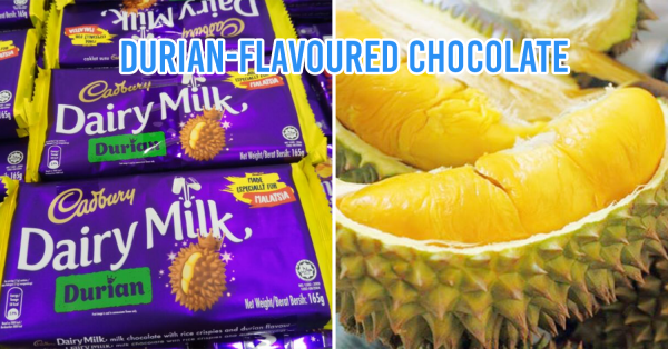 Cadbury Now Has Durian Chocolate, Specially Made For Malaysians