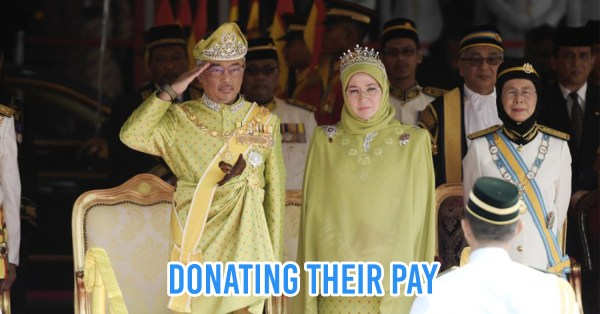 King & Queen Forgo 6 Month's Worth Of Salaries, Donate Over RM500,000 To Help With Economic Burden