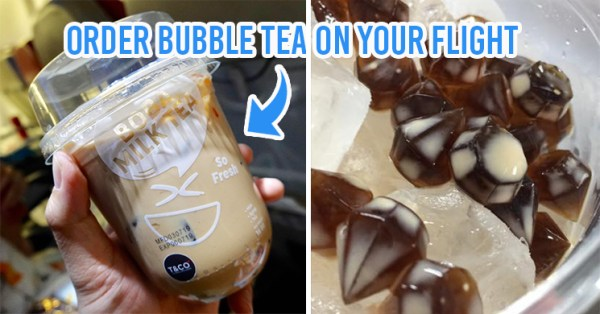AirAsia Thailand Now Serves Milk Bubble Tea with Diamond Shaped Boba On Flights