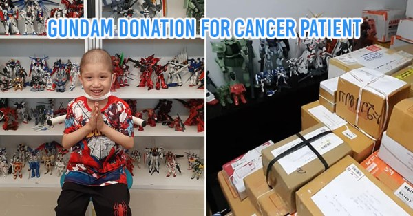 Thai Gundam Fans Donate Figurines To Little Cancer Patient To Make Him Smile Again