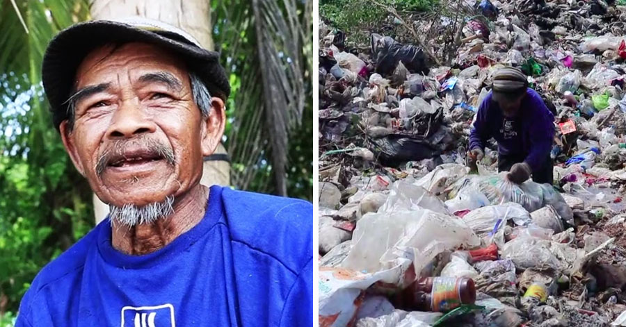 70-Year-Old Uncle Owns 12-Acre woking as a trash seller