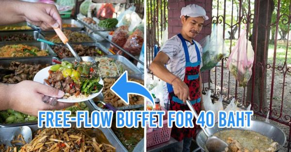 This Bangkok Mixed Rice Stall Has A ฿40 All-You-Can-Eat Street Food Buffet