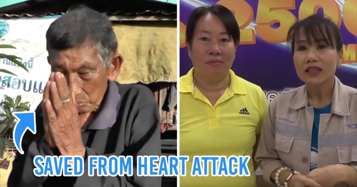 Women CPR Save Old Man Thailand
