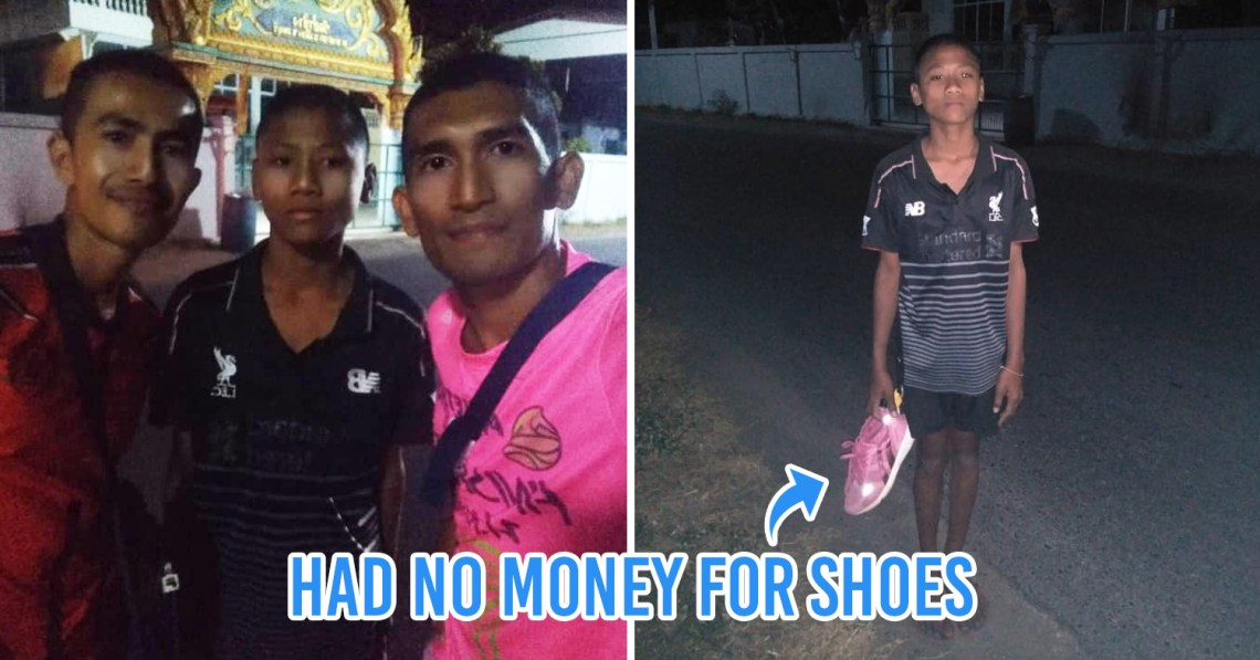 Thai runners donate their own shoes to a disadvantaged boy