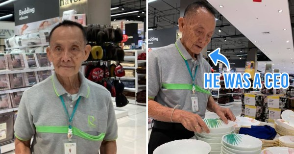 Thai Grandpa Who Was Ex-CEO Now Works As Sales Assistant, Gives Wholesome Advice On Staying Happy