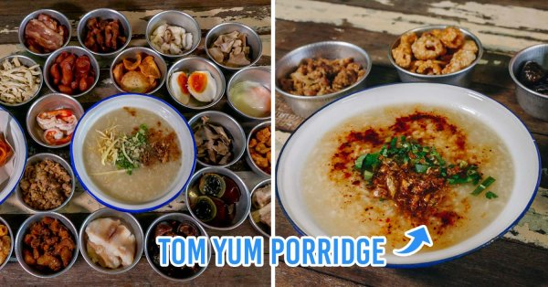 This Shop In BKK Sells Tom Yum Porridge For Under $0.50 With Over 20 Toppings To Choose From