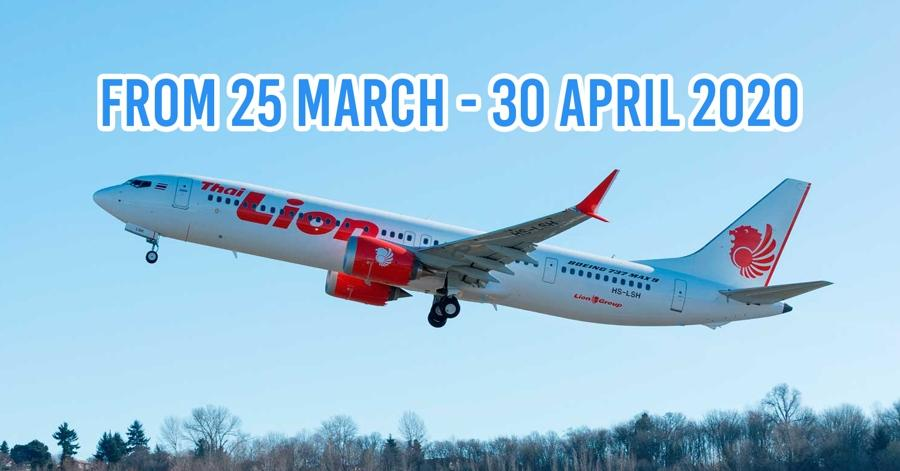 Thai Lion Air Suspends Both Domestic And International Flights Amid COVID-19