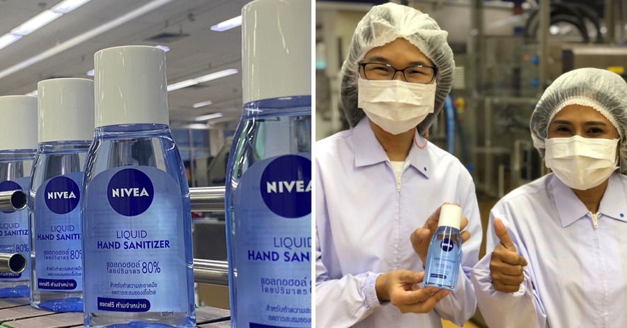NIVEA Thailand Produces 20,000 Litres Of Hand Sanitiser To Give Hospitals Around The Country For Free