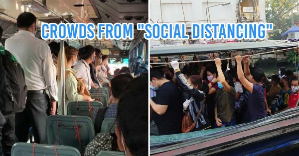 """No Seat Zones"" Meant To Promote Social Distancing In BKK End Up Bringing People Closer Than Ever"